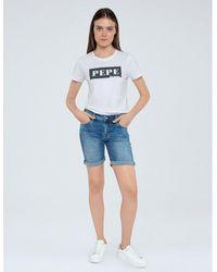 Pepe Jeans - Short con dobladillo Poppy - Lyst