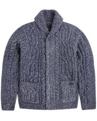 Pepe Jeans - Holborn Cable Cardigan With Concealed Button Placket - Lyst