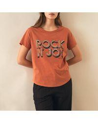 Leon & Harper Tee-shirt manches courtes - Orange