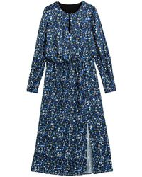 La Redoute - Vestido largo estampado de flores, de manga larga - Lyst