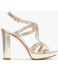 Daniel Anaca Gold Platform Sandals - Metallic