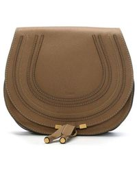 Chloé - Chloe Marcie Brown Leather Medium Saddle Bag - Lyst