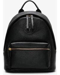 Tory Burch Small Perry Bombe Black Leather Backpack