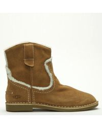 UGG - Catica Chestnut Suede Ankle Boots - Lyst