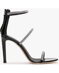 Giuseppe Zanotti Harmony Strass Black Sandals