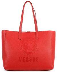 Versus Pura Red Leather Shopper Bag