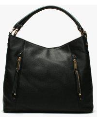 4e2e583326e1 Michael Kors - Large Evie Black Leather Shoulder Tote Bag - Lyst