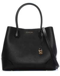 Michael Kors - Mercer Gallery Black Pebbled Tote Bag - Lyst