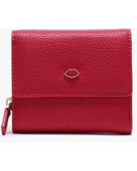 Lulu Guinness Classic Red Leather Jodie Wallet