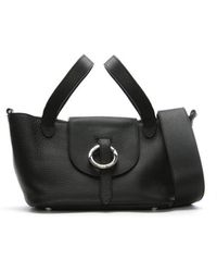 meli melo - Rose Thela Black Leather Mini Shoulder Bag - Lyst