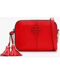 Tory Burch Mcgraw Camera Bag - Red