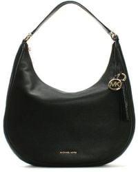 Michael Kors - Lydia Large Black Tumbled Leather Hobo Bag - Lyst