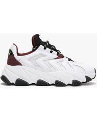 Ash Extreme Ii White Bordeaux Leather & Mesh Chunky Trainers
