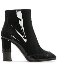 Chloé - Chloe Perry 95 Black Patent Leather Ankle Boots - Lyst