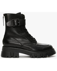 Ash Lewis Black Leather Biker Boots
