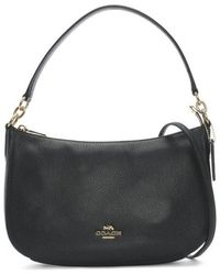 COACH - Chelsea Polished Pebbled Navy Leather Cross-body Bag - Lyst