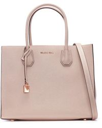 Michael Kors | Mercer Fawn Leather Large Satchel Tote Bag | Lyst