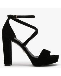 Michael Kors Charlize Black Suede Platform Sandals