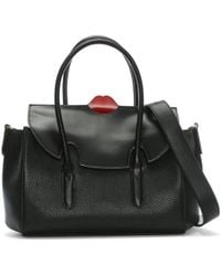 Lulu Guinness - Black Pop Up Lip Medium Bag - Lyst