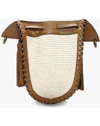 Isabel Marant Radja Natural Cognac Bucket Bag - Multicolour