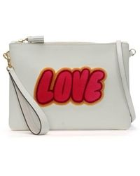 Anya Hindmarch - Chalk Leather Love Cross-body Bag - Lyst