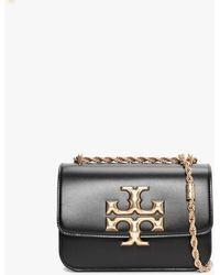 Tory Burch Eleanor Mini Shoulder Bag In Leather - Black