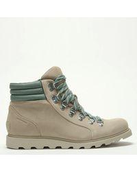 Sorel Ainsley Conquest Beige Suede Walking Boots - Multicolor
