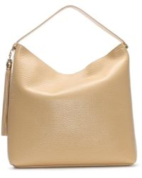 Class Roberto Cavalli - Pantera Oh My Gold Nude Leather Hobo Bag - Lyst