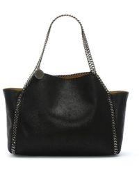 Stella McCartney - Reversible Falabella Black Tote Bag - Lyst