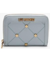 Love Moschino Studded Blue Coin Purse