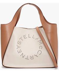Stella McCartney Logo Bicolour Pure White Cross-body Bag - Multicolour