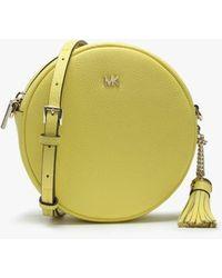 Michael Kors Canteen Sunshine Leather Circular Cross-body Bag