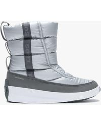 Sorel Out N About Puffy Pure Silver Nylon Mid Boots - Metallic
