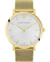 Larsson & Jennings - Lugano Sloane Milanese Gold 40mm - Lyst