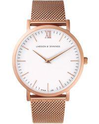 Larsson & Jennings - Lugano 40mm Watch Rose Gold Milanese/white - Lyst