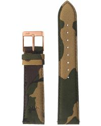 Larsson & Jennings - 20mm Green Camouflage/rose Gold - Lyst