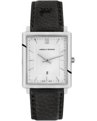 Larsson & Jennings - Norse Sloane Black Leather 40mm - Lyst