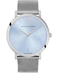 Larsson & Jennings - Lugano Solaris Milanese Silver 40mm - Lyst