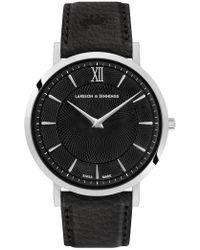 Larsson & Jennings - Lugano Sloane Black Leather 40mm - Lyst