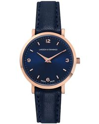 Larsson & Jennings - Ladies Lugano Watch Rose Gold And Navy 26mm - Lyst