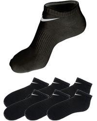 Nike Nu 20% Korting: Anklets, Set Van 6 Paar - Zwart