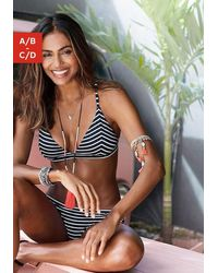 s.Oliver Beachwear Bikinitop In Triangelmodel Hill - Zwart