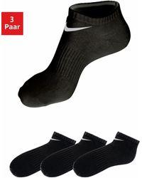 Nike Anklets, Set Van 3 Paar, - Zwart