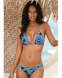 Lascana Nu 21% Korting: Triangel-bikinitop Boho - Blauw