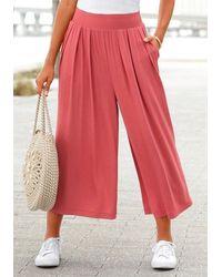 Lascana Pantaloni culotte - Rosso