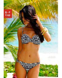 Lascana Reggiseno per bikini con ferretto - Nero