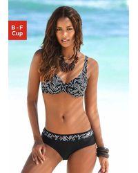 Lascana Bikini con ferretto in fantasia grafica - Multicolore