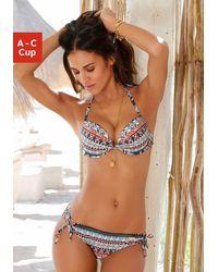 Lascana Reggiseno push-up per bikini - Multicolore
