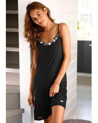 Lascana Nachthemd - Zwart