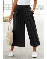 Lascana Pantaloni culotte - Nero